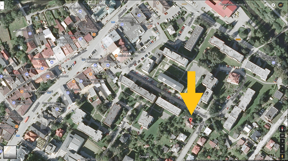 Mapa Jablunkov